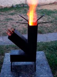 Estufa rocket de leña