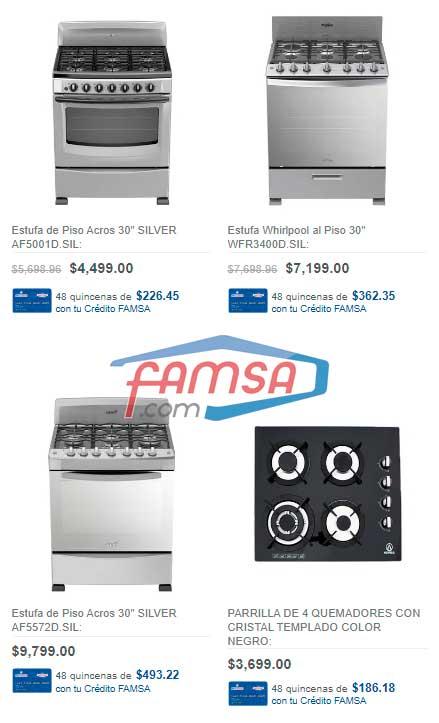 precios de estufas y parrillas en famsa