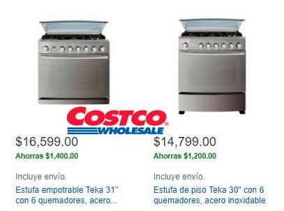precio y ofertas en estufas y parrillas Costco