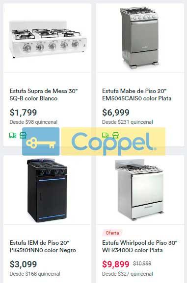 precio y ofertas en estufas y parrillas coppel